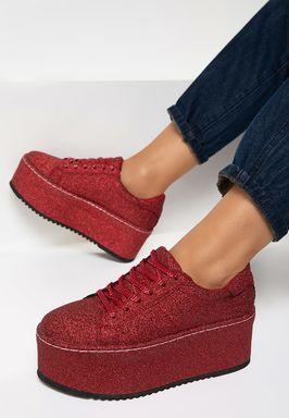 Sneakers Γυναικεία Elegance κοκκινο